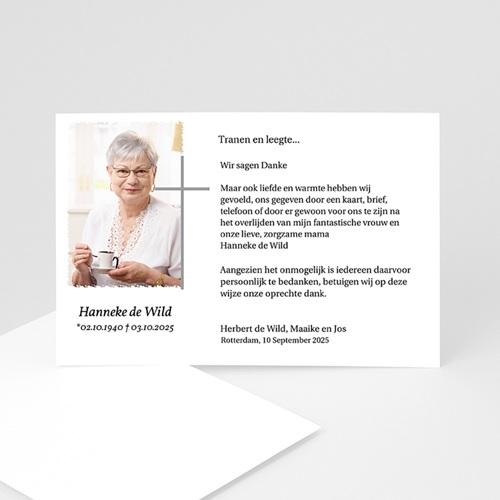 Christelijke Bedankkaartjes Overlijden Stilte in zwart