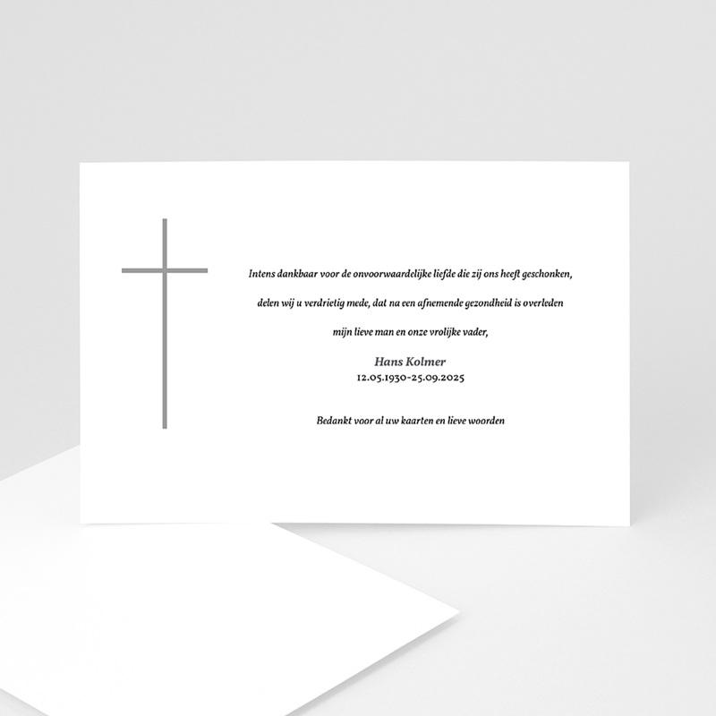 Bedankkaarten overlijden, Christelijk - Stilte in rouw 11787 thumb
