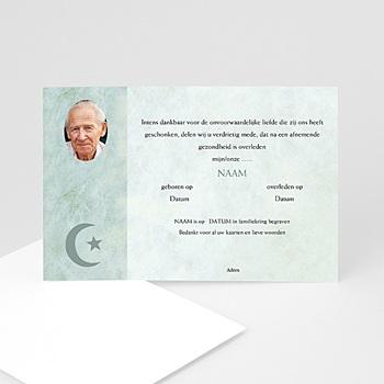 Bedankkaarten overlijden, Islamistisch - In memorium met foto, Islamistisch - 1