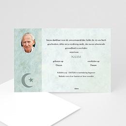 Aankondiging Décès Musulman In memorium met foto, Islamistisch