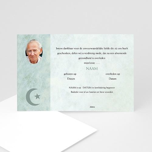 Bedankkaarten overlijden, Islamistisch - In memorium met foto, Islamistisch 11793 thumb