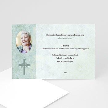 Bedankkaarten overlijden, Christelijk Blauwgroen marmer, katholiek protestants