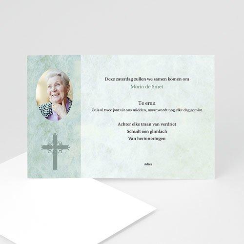Christelijke Bedankkaartjes Overlijden Blauwgroen marmer, katholiek protestants