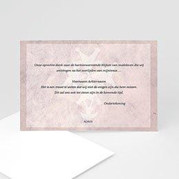 Bedankkaartjes Décès Chrétien Roze marmer, Hugenotenkruis
