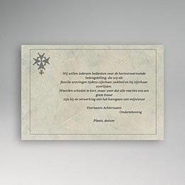 Bedankkaartjes Décès Chrétien Bladreliëf met Hugenotenkruis