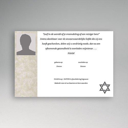 Bedankkaarten overlijden, Joods - Portret kaart Davidster 2 11815 thumb