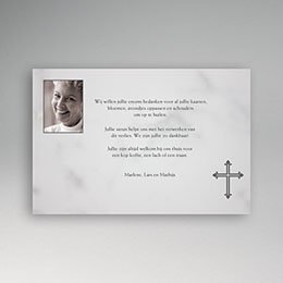 Aankondiging Décès Chrétien Foto op rouwkaart