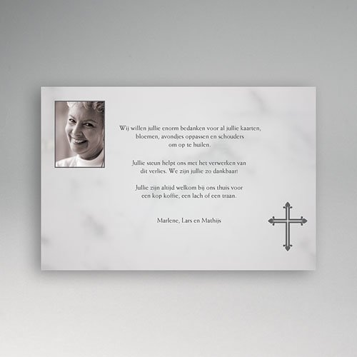 Christelijke Bedankkaartjes Overlijden Foto op rouwkaart