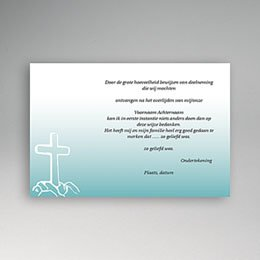 Bedankkaarten overlijden, Christelijk Kruis in rots