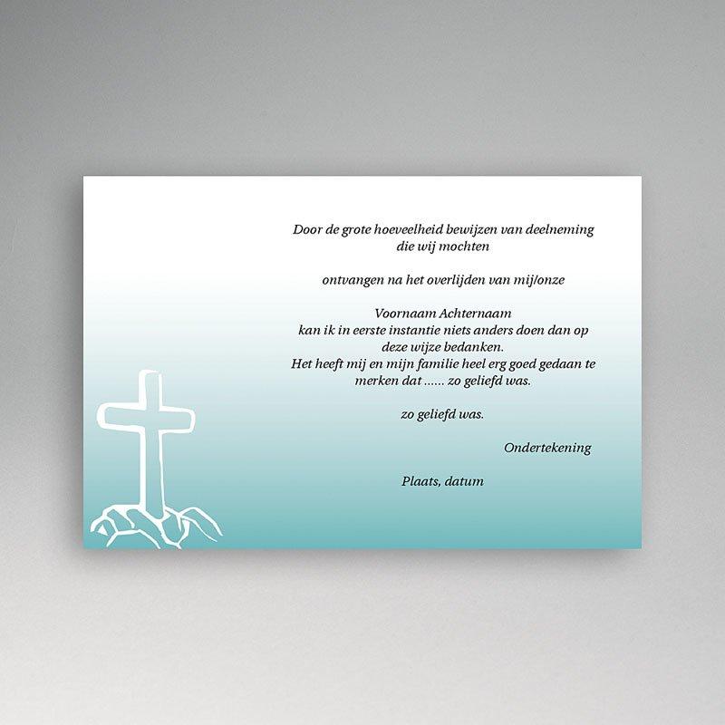 Bedankkaarten overlijden, Christelijk - Kruis in rots 11835 thumb
