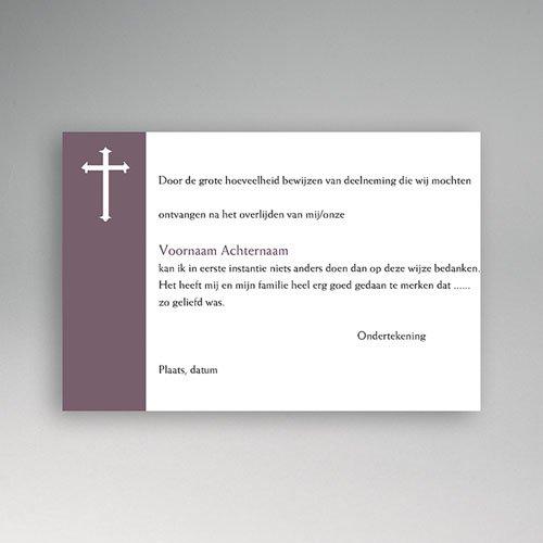 Christelijke Bedankkaartjes Overlijden Donkerpaarse verslagenheid