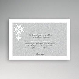 Bedankkaarten overlijden, Christelijk Hugenotenkruis, grijs