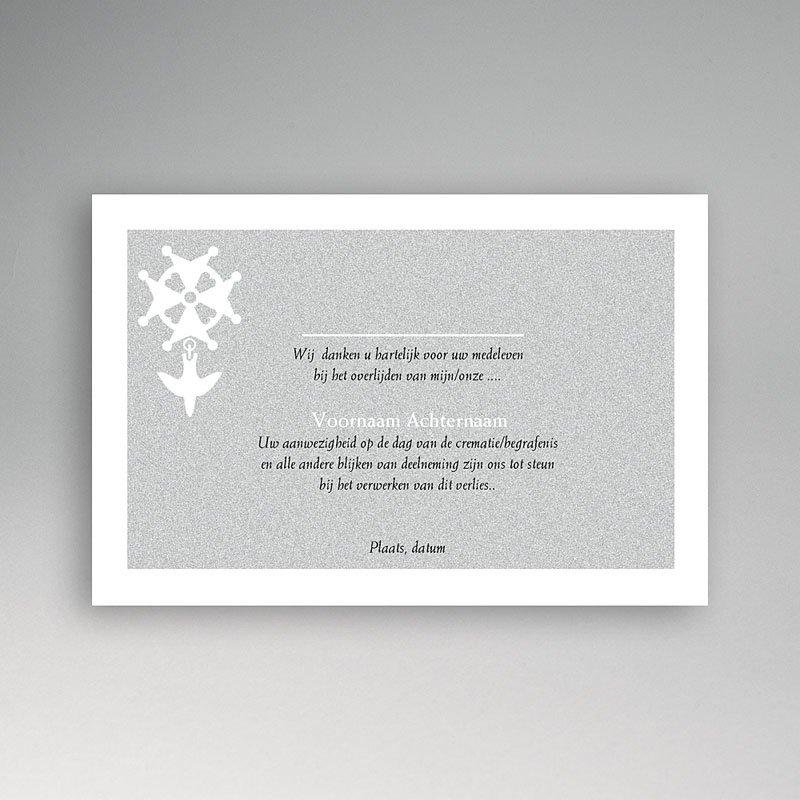 Bedankkaarten overlijden, Christelijk - Hugenotenkruis, grijs 11851 thumb