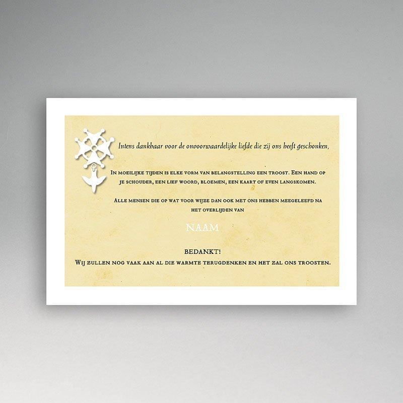 Christelijke Bedankkaartjes Overlijden Hugenotenkruis, beige