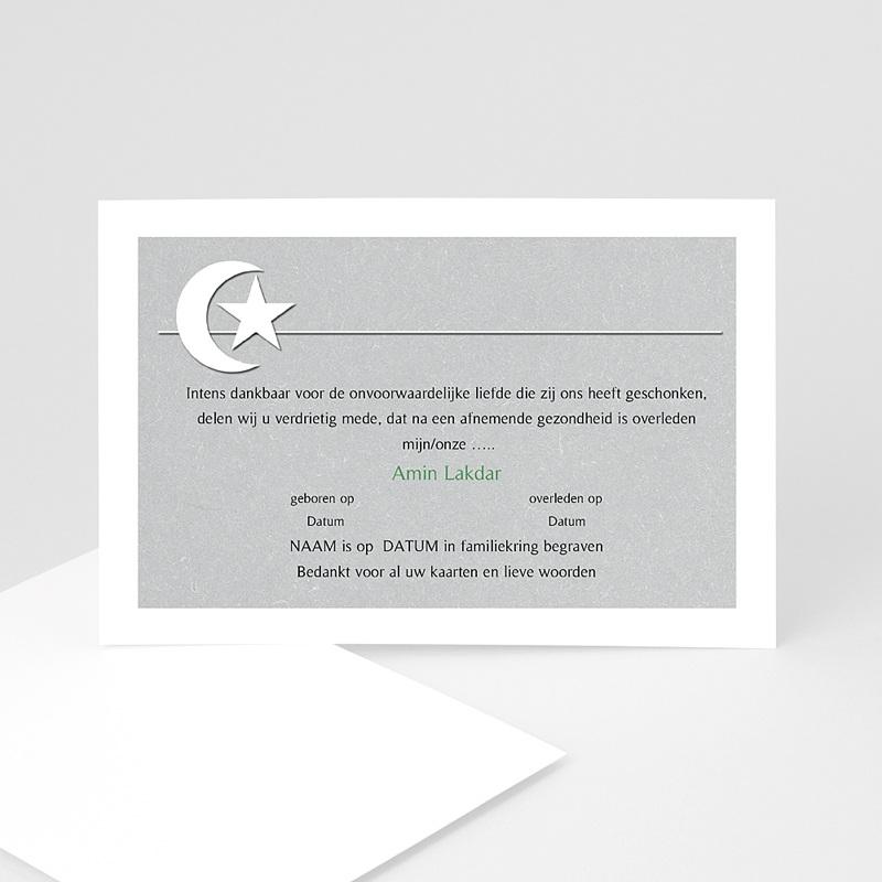 Islamistische Bedankkaartjes Overlijden Versteende horizon - grijs