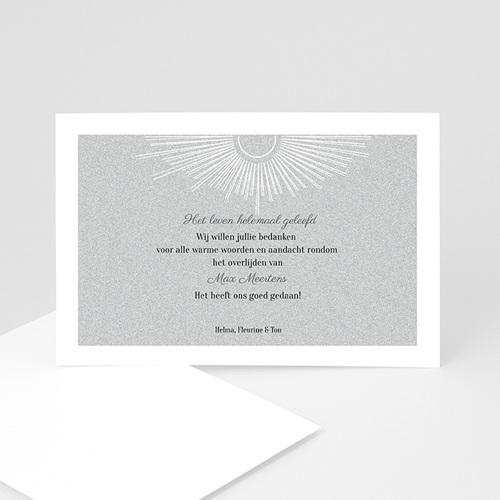 Bedankkaartjes Overlijden Zon aura, grijs
