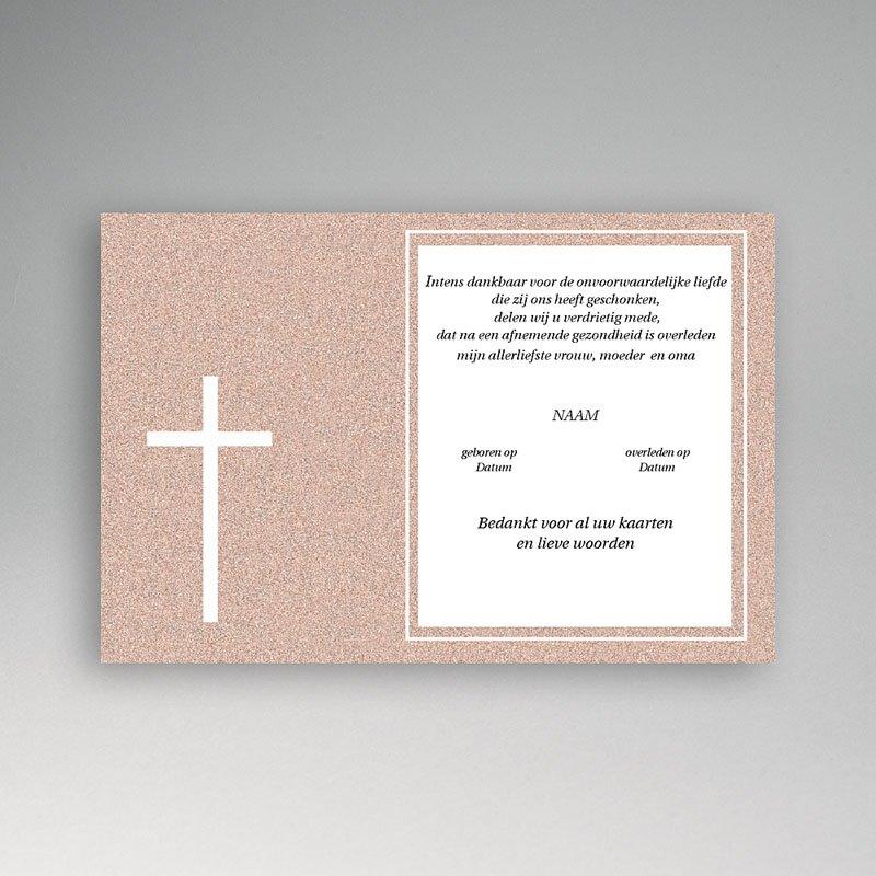 Bedankkaarten overlijden, Christelijk - Rood graniet 11869 thumb