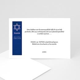 Aankondiging Décès Juif Davidster, japans papier