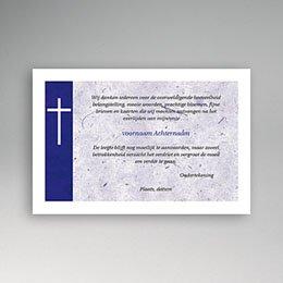 Bedankkaartjes Décès Chrétien Japans papier, blauw