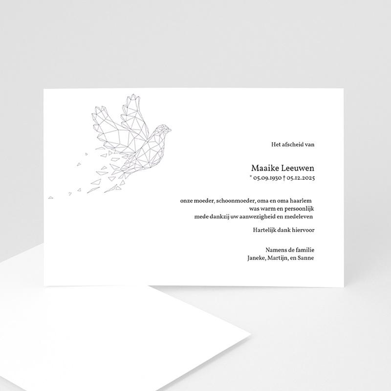 Universele rouwkaarten - Lila vredesduif 11879 thumb