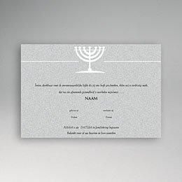 Aankondiging Décès Juif Menorah graniet