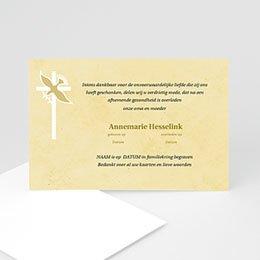 Bedankkaarten overlijden, Christelijk Geel beige pastel