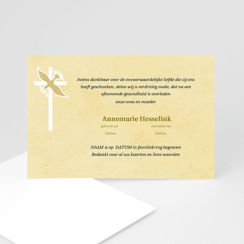 Christelijke Bedankkaartjes Overlijden Geel beige pastel