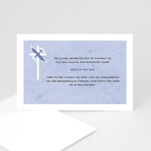 Bedankkaarten overlijden, Christelijk - Blauw pastel 11885 thumb