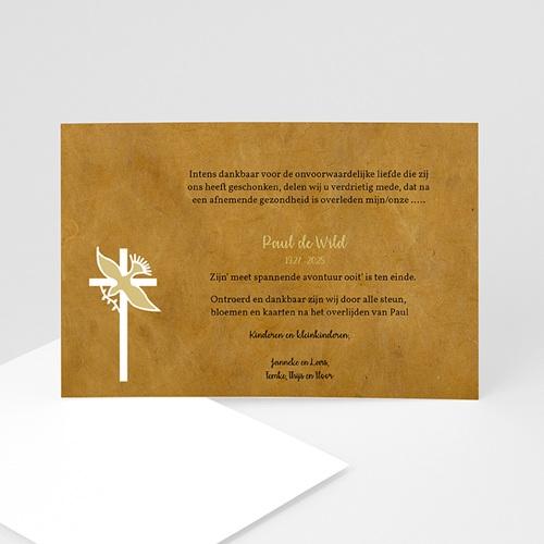 Bedankkaarten overlijden, Christelijk - Vredesduif 11887 thumb