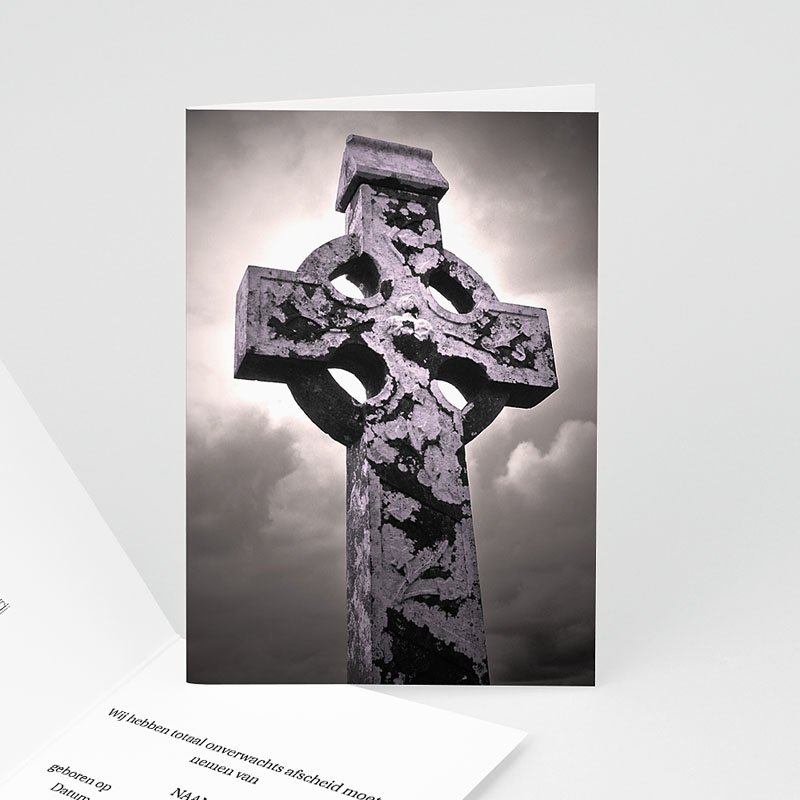 Christelijke Bedankkaartjes Overlijden Foto Keltisch kruis