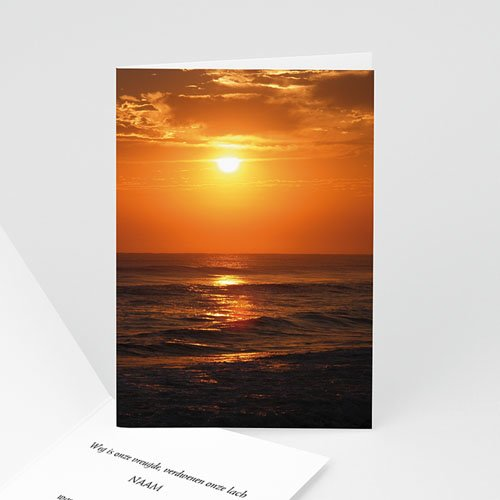 Universele Bedankkaartjes Overlijden Ondergaande zon
