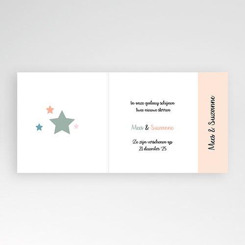 Geboortekaartje meisje - De roze ster 11930 thumb