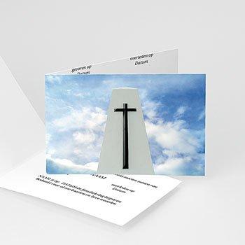 Bedankkaarten overlijden, Christelijk Door de wolken