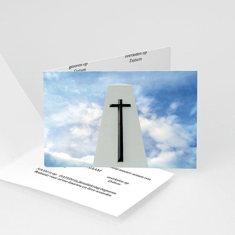 Bedankkaarten overlijden, Christelijk - Door de wolken 11937 thumb