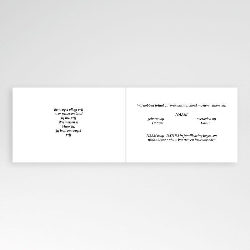 Bedankkaarten overlijden, Christelijk - Door de wolken 11938 thumb