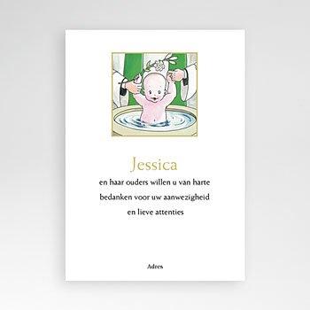 Bedankkaart doopviering jongen - Illustratie doopsel - 1