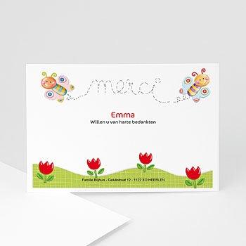 Bedankkaartje geboorte dochter - Vlinderkader - 1
