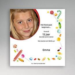 Uitnodiging Verjaardag kind snoepgoed