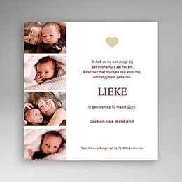Aankondiging Geboorte Mini fotoboekje