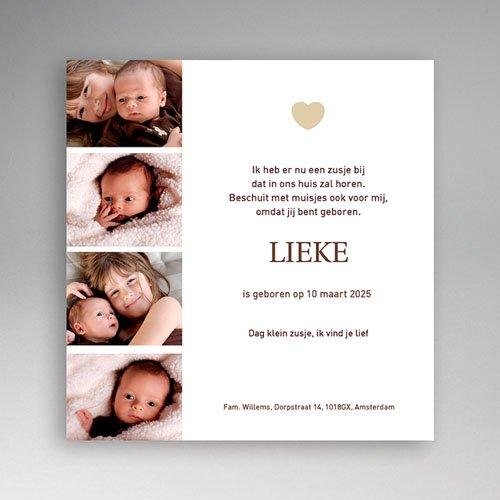 Geboortekaartje meisje - Mini fotoboekje 11969 thumb