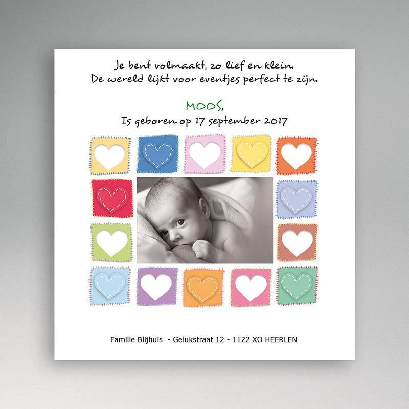 Geboortekaartje meisje - Vol hartjes 11971 thumb