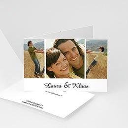 Trouwkaarten met foto Rozenboeket