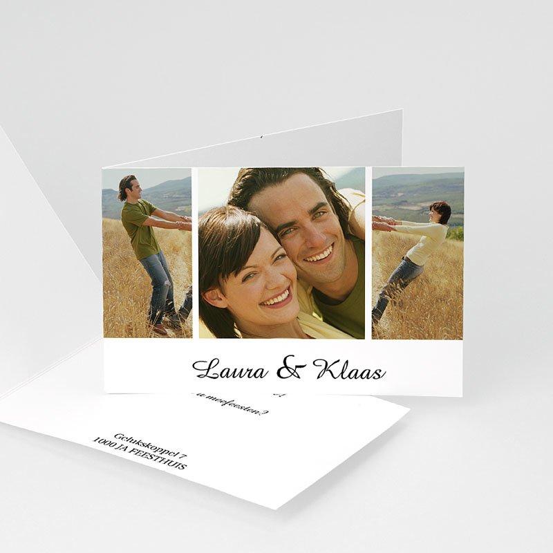 Trouwkaarten met foto - Rozenboeket 11973 thumb