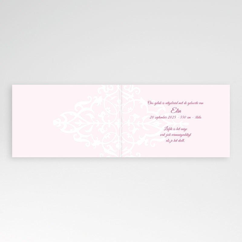 Geboortekaartje meisje Roze dutch design pas cher