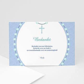 Bedankkaart doopviering jongen - In de rozenkrans - 1