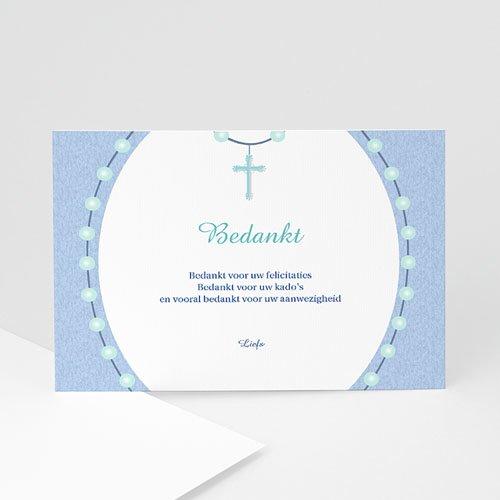 Bedankkaart doopviering jongen - In de rozenkrans 11995 thumb