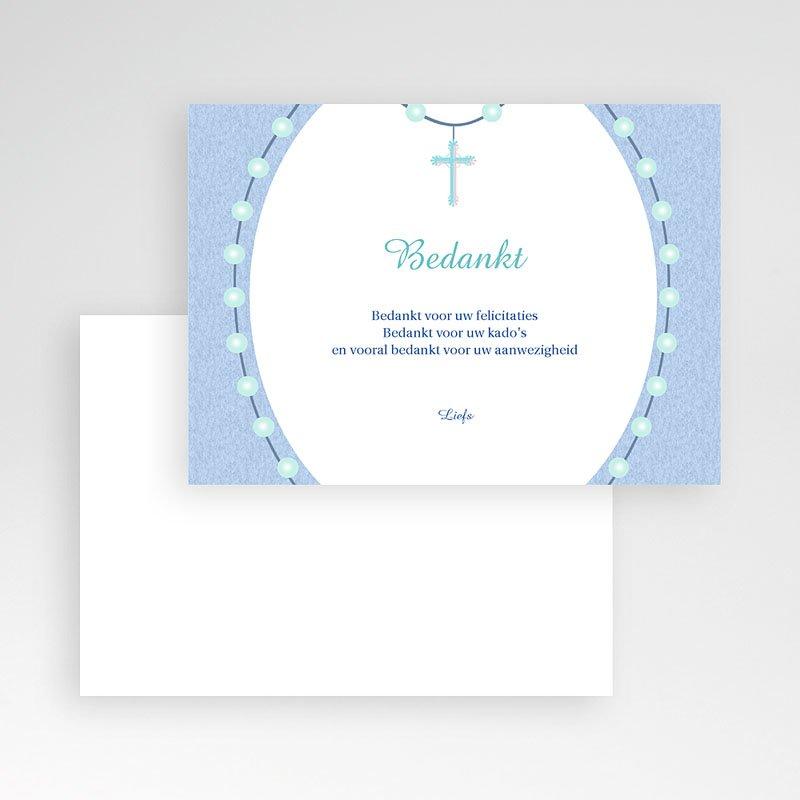 Bedankkaart doopviering jongen - In de rozenkrans 11996 thumb