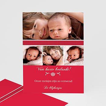 Bedankkaartje geboorte dochter - De eerste dag - 1