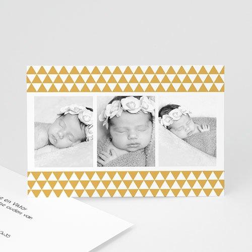 Geboortekaartje meisje - Klassiek retro 3 foto's 12003 thumb