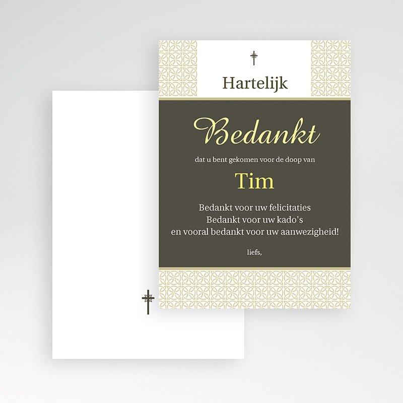 Bedankkaart doopviering jongen traditioneel pas cher